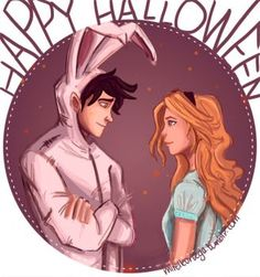 Happy Halloween! by illustrationrookie  Ironically they technically did fall in a hole. .. ( house of hades)