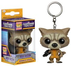 Pocket POP Keychain: GOTG - Rocket from Funko! Now you can take Rocket Racoon with you wherever you go! Check out the other Pocket POP Keychains from Funko! Collect them all!.