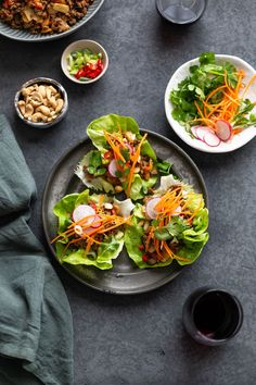 Delicious and easy beef san choy bow served in lettuce wraps are a healthy low carb meal to DIY