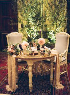 #vintage #romantic #wedding ensign for the bride and groom seating… beautiful! #crosbyandjon #design