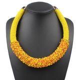 Bohemian Choker Handmade Woven Necklace – Anna Kay & Co. Rope Jewelry, Bohemia Style, Summer Necklace, Acrylic Beads, Fashion Necklace, Beaded Necklace, Chokers, Bohemian, Anna