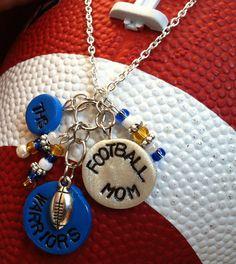 CUSTOM Football Mom Clay Charm Necklace by WeWaBu on Etsy, $15.00
