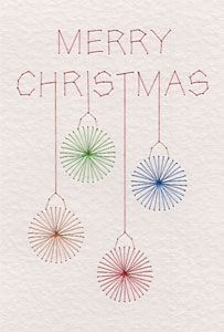 Free Merry Christmas baubles pattern added at PinBroidery   Prick And Stitch Is My Craft