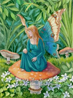 Forgotten Summer - Moontoe Gallery- The Fantasy Art of Ann Gates Fiser