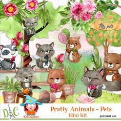 Pretty animals - Pets by kastagnette Pretty Animals, Teddy Bear, Kit, Toys, Design, Activity Toys, Clearance Toys, Teddy Bears