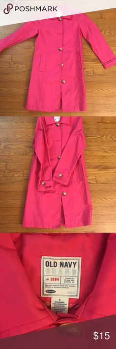 Bright Pink Trench coat. Barely used. Beautiful, delicate pink trench coat. Looks brand new used only twice. Old Navy Jackets & Coats Trench Coats
