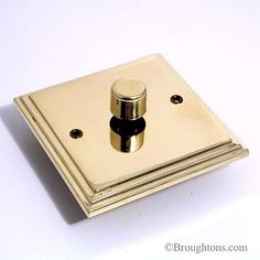 Edwardian Brass Dimmer Switch 1 Gang 250W