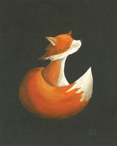 Dashing Fox 8x10 Print par BarnumsWinter sur Etsy, $22,00