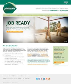 Sage Job Ready—Design and Development-Home Page