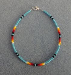 Bl Turquoise Bead Anklet,Ankle Bracelet Native American in Jewelry & Watches, Ethnic, Regional & Tribal, Native American | eBay