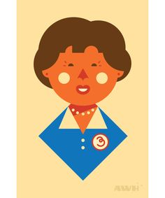 We like this illustration of Julia Child! Great background for a smartphone.