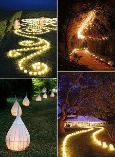 light up the road wedding decoration ideas with lanterns