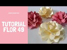 Youtube, Moana, Paper Flower Arrangements, Cake With Flowers, Pink Blossom, Paper Roses, Paper Flower Tutorial, Paper Art, Manualidades