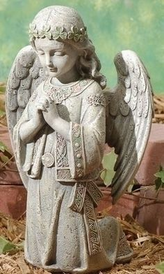 Irish Celtic Angel Kneeling To Pray Garden Figure From Joseph Studios Irish Proverb Always remember to forget The things that made you sad. But never forget to remember The things that made you glad.