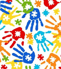 Snuggle Flannel Fabric - Autism Puzzle Hands Tap the link to check out sensory toys! Autism Crafts, Autism Activities, Puzzle Pieces, Puzzle Tattoo, Autism Tattoos, Autism Awareness Month, Autism Awareness, Kids