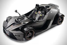 KTM X-Bow R Street Legal Formula 1 Car.    The vehicle has been outfitted with a 300 horsepower 2.0 liter TFS1 engine sourced from Audi that puts down an impressive 400 Nm of torque. Thanks to the lightweight carbon fiber chassis this street legal roadster can reach 100 kilometers per hour from a standstill in a blazing 3.9 seconds.