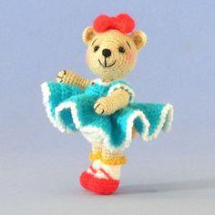 Crochet Pattern  Miniature Dressed Amigurumi by BluebearyTreasures