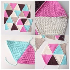 Triangle Crochet Pattern Triangle Cushion Cover Marrose Triangle Crochet Pattern Video Tutorial Easy Little Designs That Make A Great Impact Celtic. Triangle Crochet Pattern Easy Breezy Triangle Shawl For C. Crotchet Blanket Patterns, Crochet Triangle Pattern, Crochet Motifs, Crochet Squares, Easy Crochet Patterns, Crochet Stitches, Crochet Cushion Cover, Crochet Cushions, Crochet Quilt
