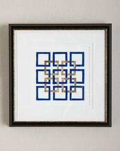 """H8DUN """"Cobalt Maze II"""" Giclee"""