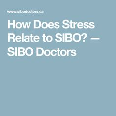 How Does Stress Relate to SIBO? — SIBO Doctors