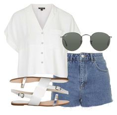 """""""Paris plane 2"""" by littlemixmakeup ❤ liked on Polyvore featuring Topshop, Office and Ray-Ban"""