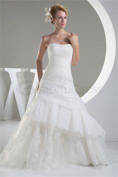 Handmade Flower(s) A-Line Empire Sweetheart Wedding Dress http://www.GracefulDress.com/Handmade-Flower-s-A-Line-Empire-Sweetheart-Wedding-Dress-p20154.html