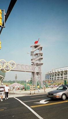 Atlanta Olympics torch at the old Fulton County Stadium. which has now been torn down. the Braves are building a new complex in Cobb County. I miss the old FUlton County Stadium. Helsinki, Atlanta Attractions, Stockholm, Montreal, Seoul, Olympic Flame, Atlanta Olympics, Amsterdam, Melbourne
