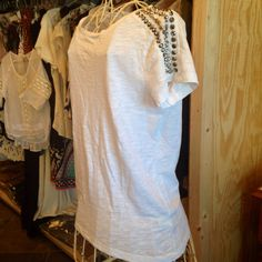 How cute is this studded tee? Perfect for any outfit! Check out all of our new items at www.rusticheartonline.com