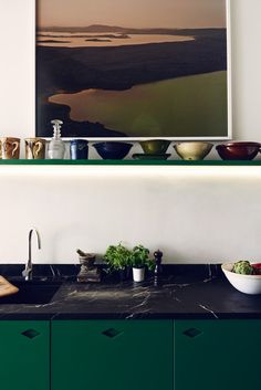 A Weird (and Wonderful) New Trend: Black and Green in the Kitchen