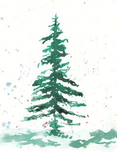 Handmade Watercolour Christmas Tree Cards a set of four Watercolor Artwork, Watercolor Animals, Watercolor Cards, Watercolor Flowers, Watercolour, Watercolor Christmas Tree, Christmas Tree Cards, Losing Friends, Animal Cards