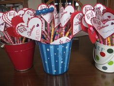 Valentine Pencil Favors (or you can insert pixie sticks!)