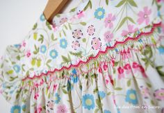Smocked blouse, Liberty Mirabelle