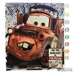 Disney Cars Dream Party Game - 4.75 at Oriental Trading Company