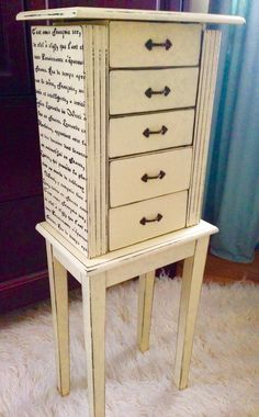 Fern Avenue Vintage DecoArt Chalky Paint Jewelry Armoire Makeover