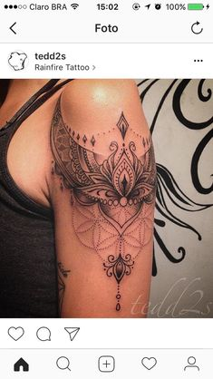 Like the placement around the shoulder - Tattoo Platzierung - Tattoo Platzierung, Lace Tattoo, Tattoo Fonts, Piercing Tattoo, Body Art Tattoos, Sleeve Tattoos, Mandala Tattoo Sleeve Women, Henna Arm Tattoo, Ear Piercings