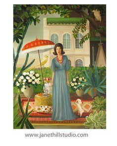 Marissa Minky Bancroft Poses.... Art Print por janethillstudio