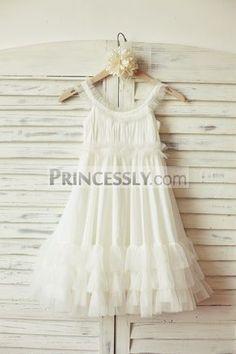 Princessly.com-K1000091-Boho Beach Ivory Chiffon Tulle Flower Girl Dress-31