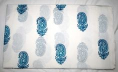 10 Yard Hand Block Print Handmade Cotton Indian Natural Sanganeri Print Fabric #Handmade