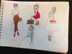 An intrusion in my drawing notepad ! Sketches ! On Flavie's blog !