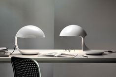 Swivel adjustable table lamp COBRA by Martinelli Luce design Elio Martinelli