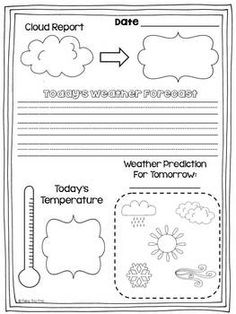 Weather journal for daily data tracking in this weather unit!