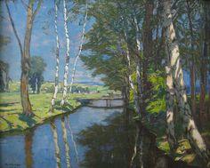 Alois Kalvoda (Tch. 1875 - 1934), Potok (Courant), huile sur toile