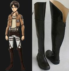 $54.69  Custom Made Cosplay Attack on Titan Eren Jager Boots