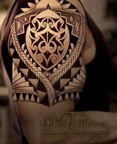 samoan tattoo designs and meanings Tribal Arm Tattoos, Body Art Tattoos, Sleeve Tattoos, Cool Tattoos, Tatoos, Maori Tattoos, Armor Tattoo, Band Tattoo, Future Tattoos