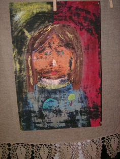 The Girl Painting signed by a little girl named by TwiceBeloved, $13.00