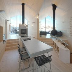 contemporary holiday home - split view mountain lodge in Havsdalen, Norway