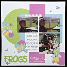 Frog single page scrapbook layout using the awesome new Penelope paper pack
