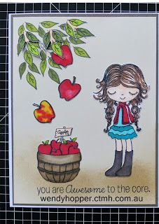 CTMH 'A bushel and a Peck' Stamp of the Month Australasian Blog Hop