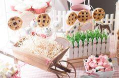 Pops tortinhas Tema de aniversário: Fazendinha