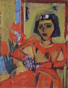 Albert Mueller (1884-1963) Hij volgde een academische opleiding in zijn geboortestad en sloot zich vervolgens aan bij de Basler Kunstverein. In 1924 brengt zijn vriend en kunstenaar Hermann Scherer hem in contact met Ernst Ludwig Kirchner. Beiden laten zich van dan af inspireren door Kirchners veelzijdige talent.